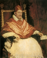 Pope Innocent X painting reproduction, Diego Vel�zquez