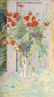 Poppies in a Vase painting reproduction, Pierre Bonnard