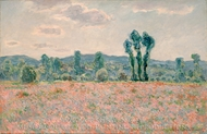 Poppy Field painting reproduction, Claude Monet