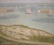 Port-en-Bessin, Entrance to the Harbor painting reproduction, Georges Seurat
