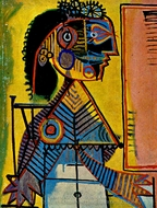 Portrait de Femme painting reproduction, Pablo Picasso (inspired by)