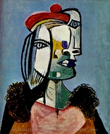Portrait de Femme au Beret painting reproduction, Pablo Picasso (inspired by)
