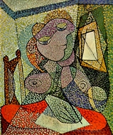 Portrait de Femme (Femme Ecrivant) painting reproduction, Pablo Picasso (inspired by)