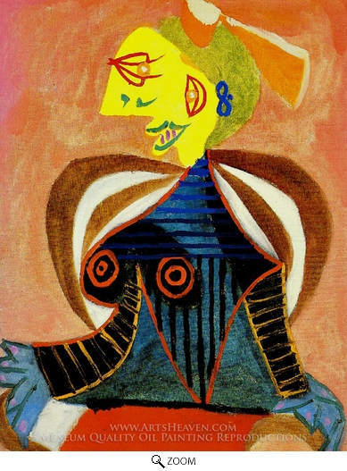 Pablo Picasso (inspired by), Portrait de Lee Miller a L'Arlesienne oil painting reproduction