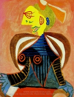 Portrait de Lee Miller a L'Arlesienne painting reproduction, Pablo Picasso (inspired by)