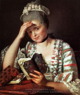 Portrait de Marie-Josephine Buron painting reproduction, Jacques-Louis David