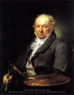 Portrait du peintre Francisco de Goya painting reproduction, Vincente Lopez Portana