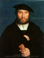 Portrait of a 39-Year-Old Man painting reproduction, Hans Holbein, The Younger