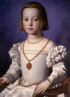 Portrait of a Baby Girl painting reproduction, Agnolo Bronzino