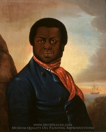 Portrait of a Black Sailor painting reproduction, Paul Cuffe