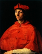 Portrait of a Cardinal painting reproduction, Raphael Sanzio