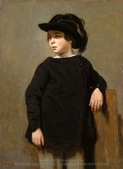 Portrait of a Child painting reproduction, Jean-Baptiste Camille Corot