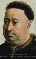 Portrait of a Fat Man painting reproduction, Robert Campin