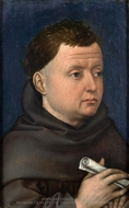 Portrait of a Franciscan painting reproduction, Robert Campin