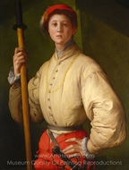 Portrait of a Halberdier painting reproduction, Jacopo Pontormo