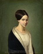 Portrait of a Lady painting reproduction, French Painter