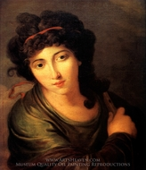 Portrait of a Lady as the Muse Enterpe painting reproduction, Angelica Kauffmann