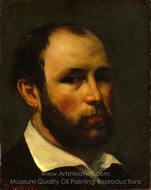 Portrait of a Man painting reproduction, Gustave Courbet
