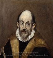 Portrait of a Man painting reproduction, El Greco