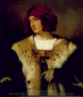 Portrait of a Man in a Red Cap painting reproduction, Titian