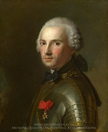 Portrait of a Man in Armour painting reproduction, Jean Marc Nattier