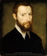Portrait of a Man with a Pointed Collar painting reproduction, Corneille De Lyon