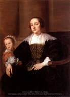 Portrait of a Mother and Her Daughter painting reproduction, Sir Anthony Van Dyck