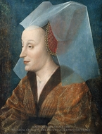 Portrait of a Noblewoman, Probably Isabella of Portugal� painting reproduction, Netherlandish Painter