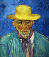 Portrait of a Peasant painting reproduction, Vincent Van Gogh