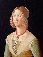 Portrait of a Woman painting reproduction, Domenico Ghirlandaio