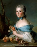Portrait of a Woman, Called the Marquise Perrin de Cypierre painting reproduction, Jean Marc Nattier