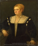 Portrait of a Woman (Pellegrina Morosini Capello) painting reproduction, Titian