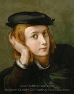 Portrait of a Young Man painting reproduction, Antonio Da Correggio