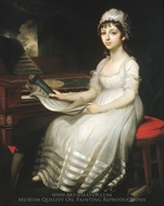Portrait of a Young Woman painting reproduction, Mather Brown