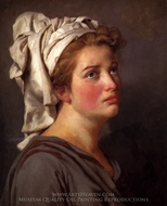 Portrait of a Young Woman in a Turban painting reproduction, Jacques-Louis David