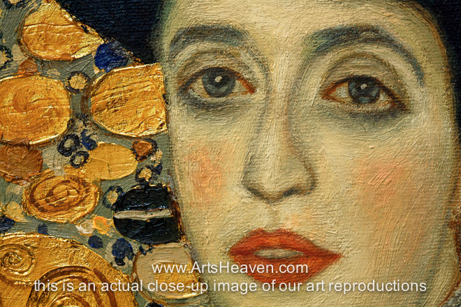 reproduction painting gustav klimt portrait of adele bloch. Black Bedroom Furniture Sets. Home Design Ideas