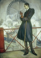 Portrait of Adolfo Best Maugard painting reproduction, Diego Rivera