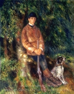 Portrait of Alfred Berard with His Dog painting reproduction, Pierre-Auguste Renoir