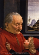 Portrait of an Old Man with a Young Boy painting reproduction, Domenico Ghirlandaio