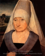 Portrait of an Old Woman painting reproduction, Hans Memling