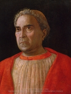 Portrait of Cardinal Lodovico Trevisano painting reproduction, Andrea Mantegna