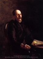 Portrait of Charles Linford the Artist painting reproduction, Thomas Eakins