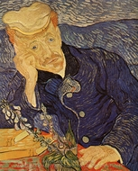 Portrait of Doctor Gachet painting reproduction, Vincent Van Gogh