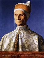 Portrait of Doge Leonardo Loredan painting reproduction, Giovanni Bellini