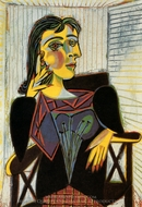 Portrait of Dora Maar painting reproduction, Pablo Picasso (inspired by)