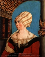 Portrait of Dorothea Kannegiesser, Wife of Jakob Meyer painting reproduction, Hans Holbein, The Younger