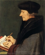 Portrait of Erasmus painting reproduction, Hans Holbein, The Younger