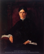 Portrait of Frances Schillinger Hinkle painting reproduction, Frank Duveneck