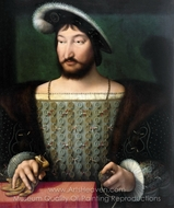 Portrait of Francis I, King of France painting reproduction, Joos Van Cleve