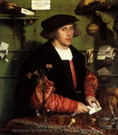 Portrait of Georg Gisze painting reproduction, Hans Holbein, The Younger
